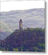 View Of Wallace Monument From The Heights Of The Stirling Castle Metal Print