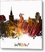 Warsaw City Skyline Metal Print