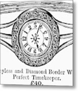 Watch Bracelet, 1891 Metal Print