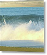 Waves Breaking On The Beach, Playa La Metal Print