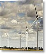 Wind Powered Electric Turbine Metal Print