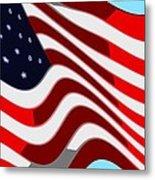 50 Star American Flag Closeup Abstract 7 Metal Print