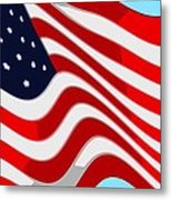 50 Star American Flag Closeup Abstract 9 Metal Print by L Brown