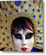 Venice At Carnival Time, Italy Metal Print
