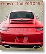 50 Years Of The Porsche 911 E182 Metal Print