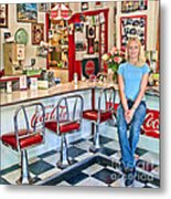 50s American Style Soda Fountain Metal Print by David Smith