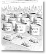 The Coffee Shop Vats Of New Jersey Metal Print