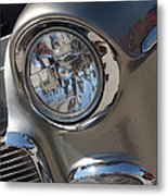 55 Bel Air Headlight-8200 Metal Print