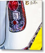 56 Chevy Bel-air Tail Light Metal Print