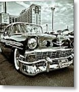 56 Chevy Metal Print by Merrick Imagery