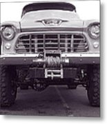 56 Chevy Truck In Bw Metal Print