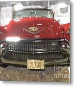 56 Red Cadillac Metal Print