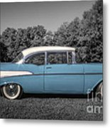 57 Chevy Black And White And Color Metal Print