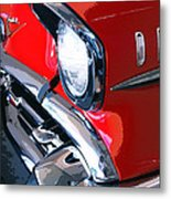 57 Chevy Front End Palm Springs Metal Print