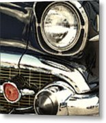 57 Chevy Headlight Metal Print