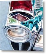 57 Chevy Taillight Metal Print