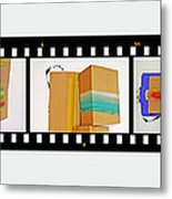 57 Contact Strip Metal Print