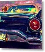 57 Ford T Bird Tail Metal Print