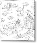 New Yorker May 5th, 2008 Metal Print