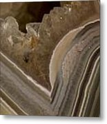 Agate Closeup Metal Print