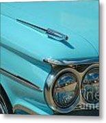 59 Pontiac Catalina Hood Ornament Metal Print