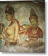 5th Century Cave Frescoes Metal Print