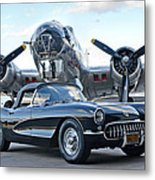 1957 Chevrolet Corvette Metal Print
