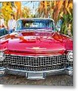 1960 Cadillac Eldorado Biarritz Convertible Painted  Metal Print