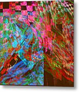 Abstract Checkered Pattern Fractal Flame Metal Print by Keith Webber Jr