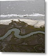 Aerial Near Jekyll Island Metal Print