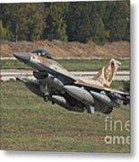 An F-16c Barak Of The Israeli Air Force Metal Print