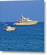 Antibes - Superyachts Of Billionaires Metal Print by Christine Till
