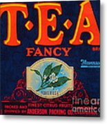 Antique Food Packaging Label. Metal Print