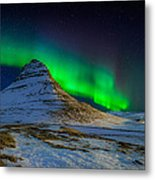 Aurora Borealis Or Northern Lights Metal Print