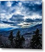 Blue Ridge Parkway Winter Scenes In February Metal Print