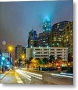Charlotte City Skyline  Metal Print