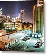 Charlotte City Skyline Night Scene Metal Print