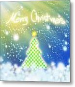 Chess Style Christmas Tree Metal Print