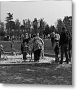 Children Playing Inside The Blair Drummond Safari Park Metal Print