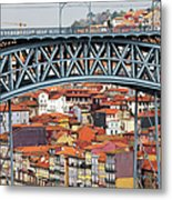 City Of Porto In Portugal Metal Print