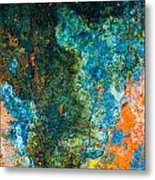 Colored Rust Metal Metal Print
