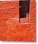 Colorful Old Architecture Details Metal Print