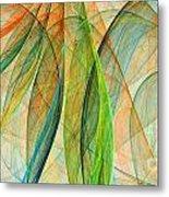 Colorful Silk Scarf Metal Print