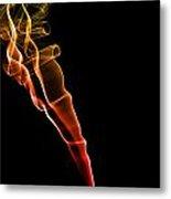 Colourful Smoke Metal Print