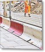 Construction Site Metal Print