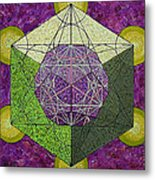 Dodecahedron In A Metatron's Cube Metal Print