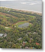 East Coast Aerial Near Jekyll Island Metal Print