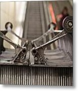 Escalator Construction Works Metal Print