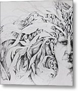 Face Metal Print by Moshfegh Rakhsha