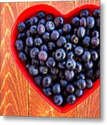 Fresh Picked Organic Blueberries Metal Print